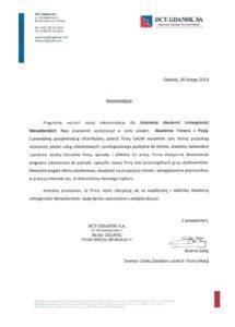 DCT Gdańsk S.A. - Akademia Trenera z Pasją